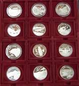 298: Set of 12 .999 silver one ounce proof Solomon Isl