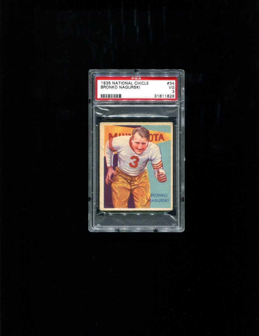 1935 National Chicle #34 Bronko Nagurski - PSA 3