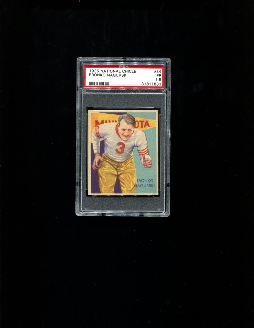 1935 National Chicle #34 Bronko Nagurski - PSA 1.5
