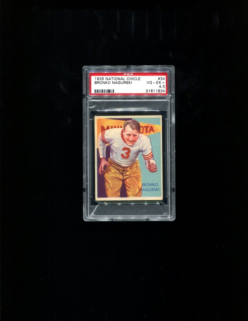 1935 National Chicle #34 Bronko Nagurski - PSA 4.5