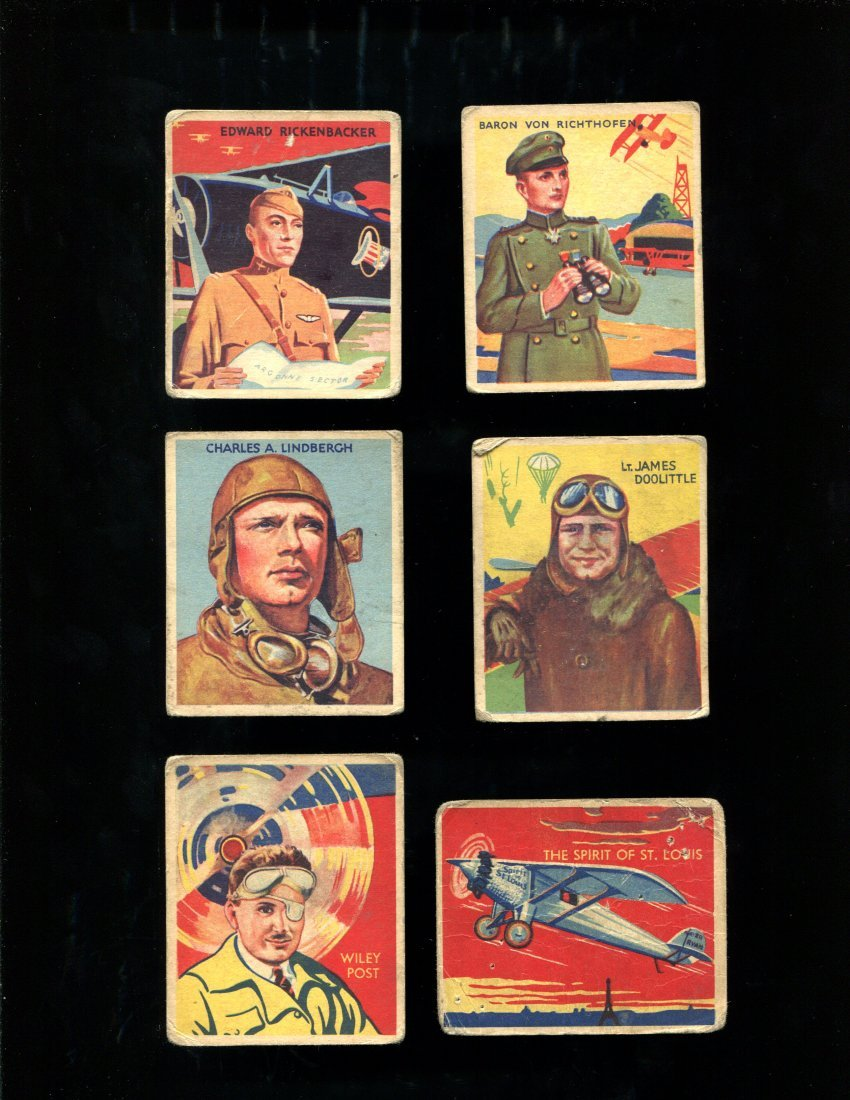 1934 National Chicle Skybirds Lot (65) w/ #36 Lindbergh