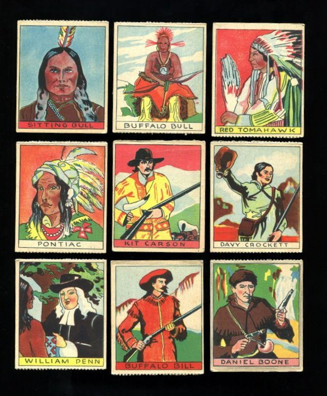 1933 R128 Anonymous Series of 48 - Western Complete Set