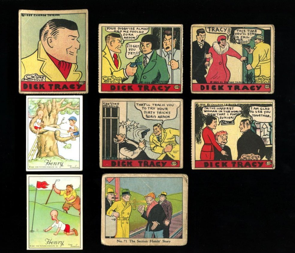 1930s Non-Sport Card Lot with Dick Tracy & Henry Comics