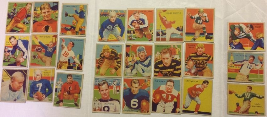 1935 National Chicle Football Complete Low Series Set
