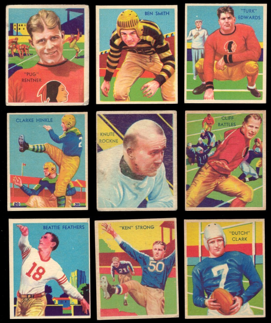 1935 National Chicle Low Series Football Set