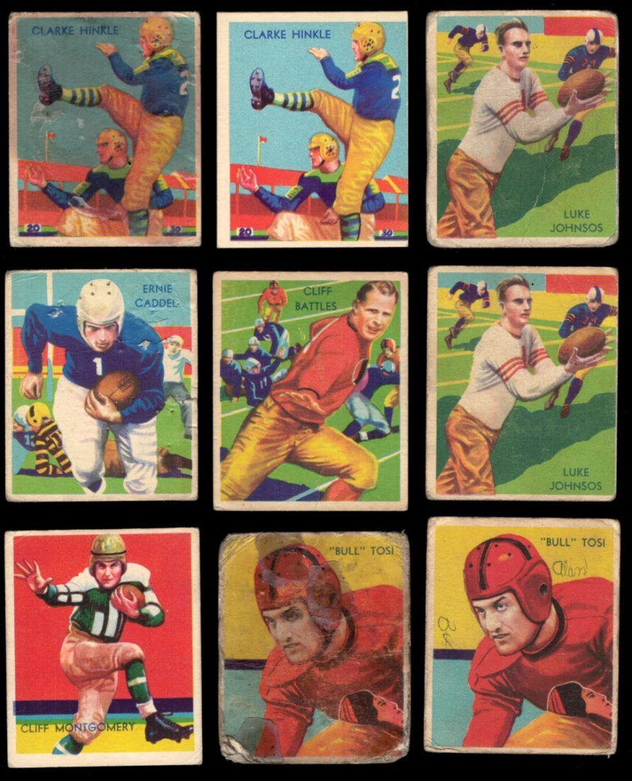 1935 National Chicle Football Lot (71) cards