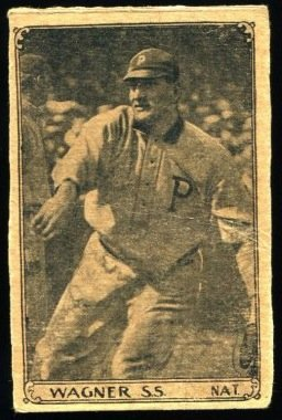 1912 J=K Candy Honus Wagner Type 1 Baseball Card