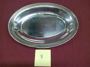 """Watson 12"""" Oval Sterling Silver Serving Platter"""
