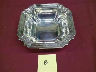 "91/2"" Square Sterling Silver Serving Dish"