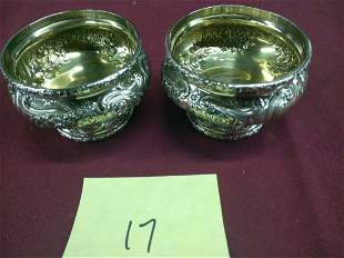Pair of J.E. Caldwell Sterling Silver Master Salts