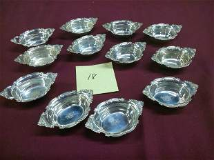 12 Gorham Sterling Silver Nut Dishes