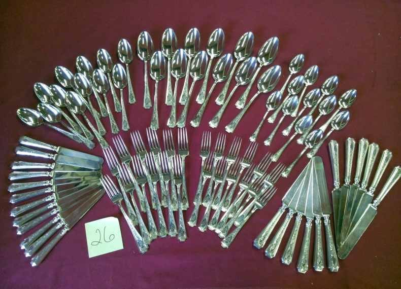 84 Pc Sterling Silver Flatware Set William B Durgin Co