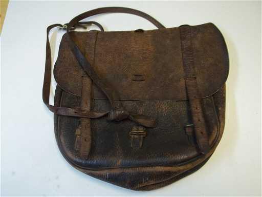 Us Civil War Leather Mail Bag Satchel