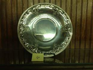 WALLACE RETICULATED STERLING  SERVING PLATE [13.1ozt]