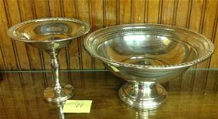 STERLING SILVER WEIGHTED PEDASTAL FRUIT BOWL,COMPOTE