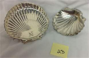 2 STERLING SILVER SHELL DISHES