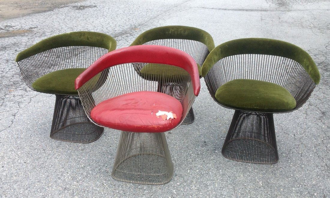 4 WARREN PLATNER MODERNISM ARMCHAIRS