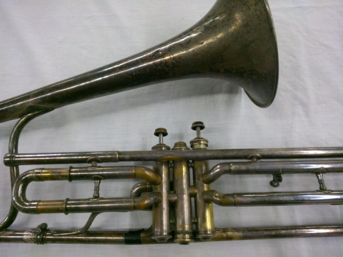 1914 CG Conn Ltd. Valve Trombone w/ Elevated Bell - 2