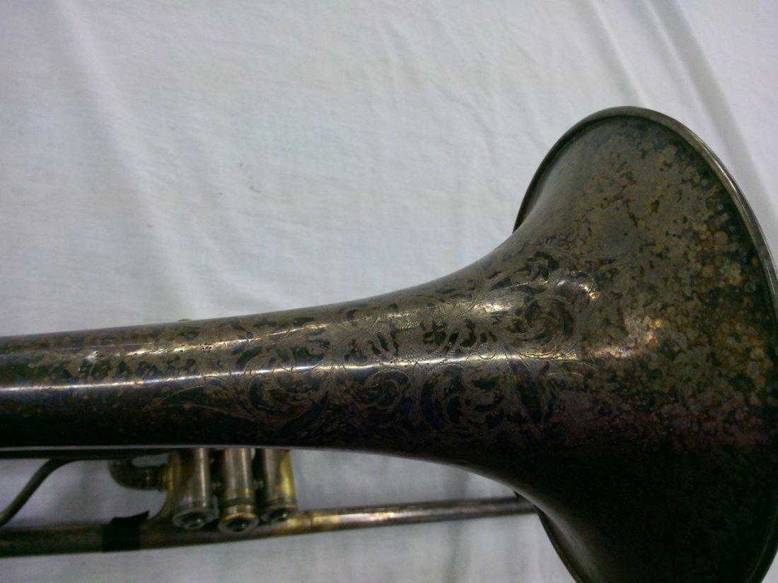 1914 CG Conn Ltd. Valve Trombone w/ Elevated Bell - 3