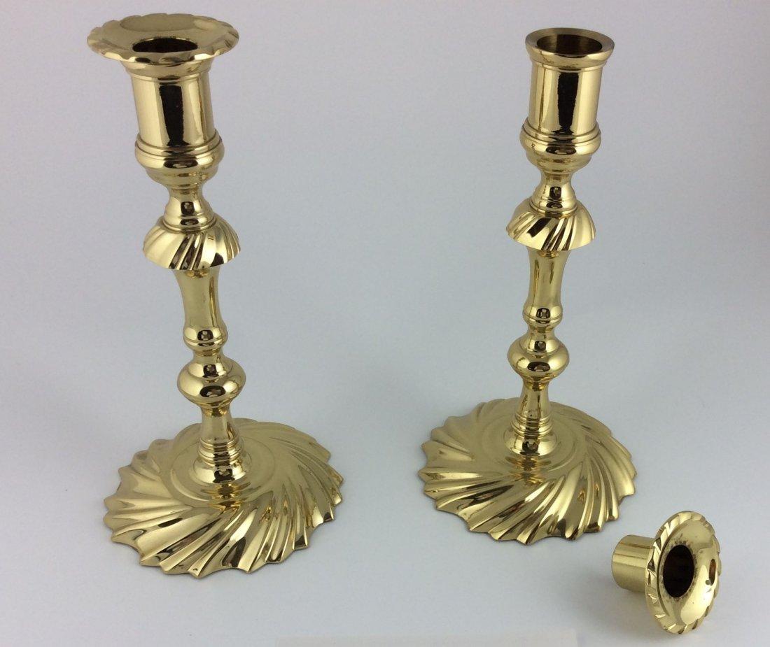 Pair Baldwin Brass Comet Candlesticks