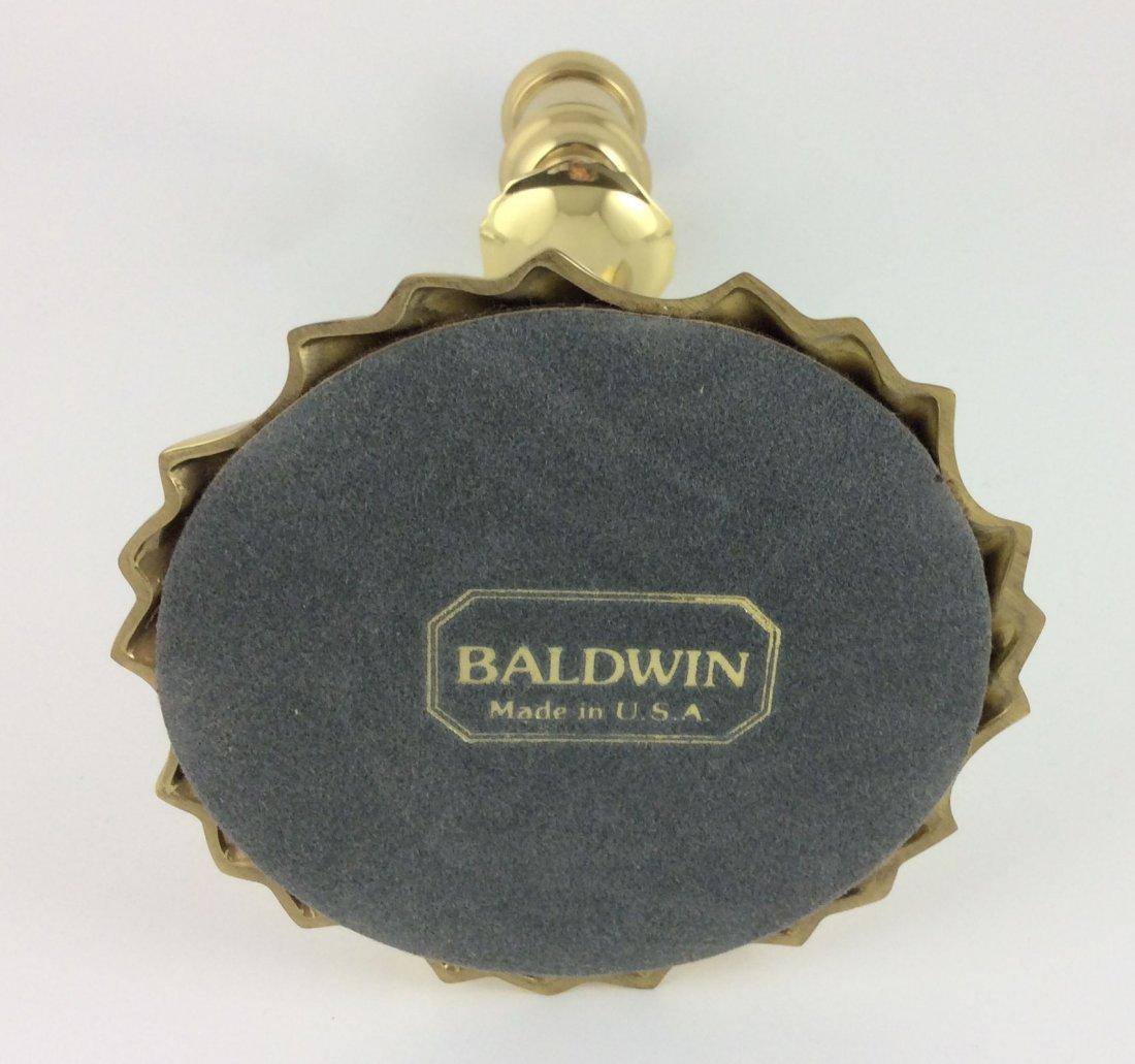 Pair Baldwin Brass Comet Candlesticks - 2