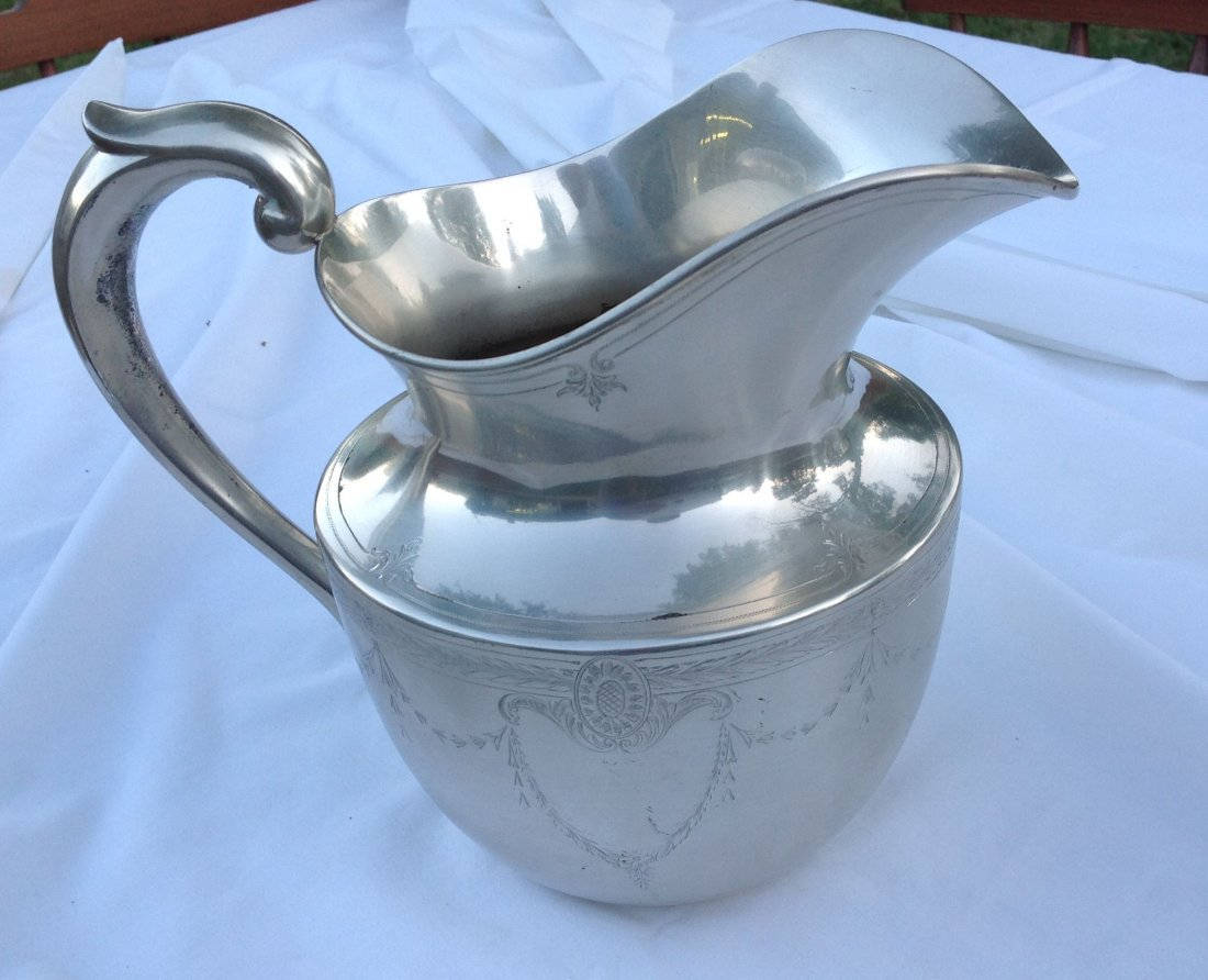 Sterling Silver 3 1/2 Pint Water Pitcher