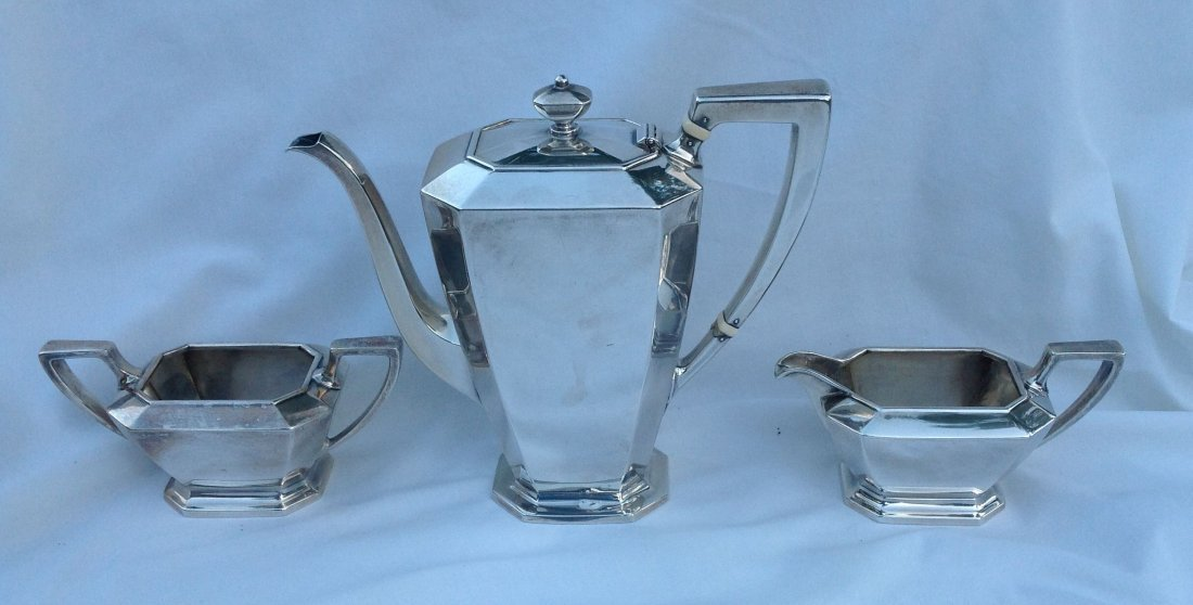 3 pc Gorham Sterling Silver Demitasse Set