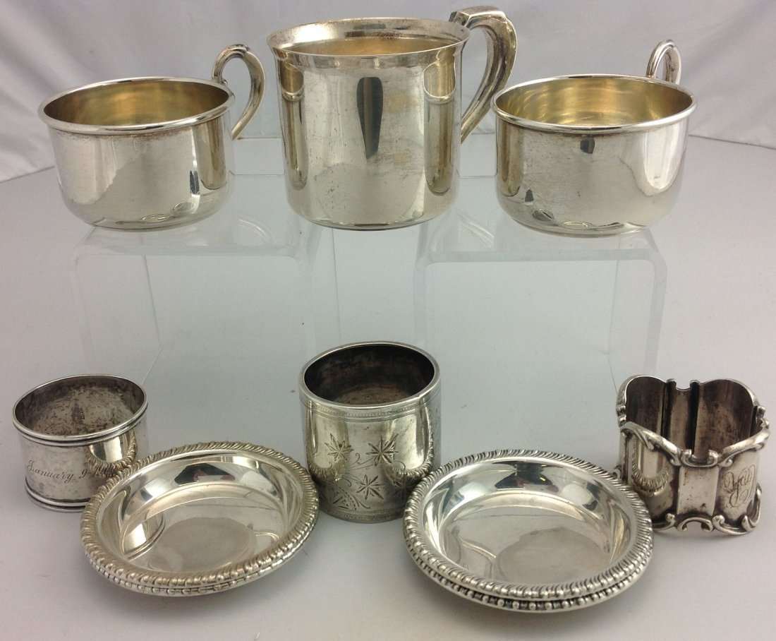 Group of 10 Assorted Pieces of Sterling Silver