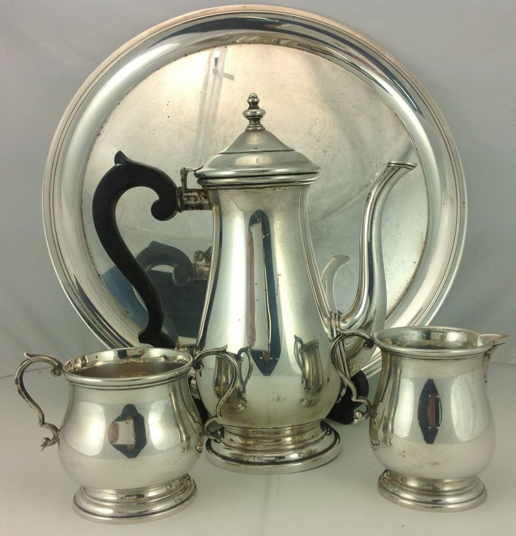 4 Piece Lunt Sterling Silver Tea Set