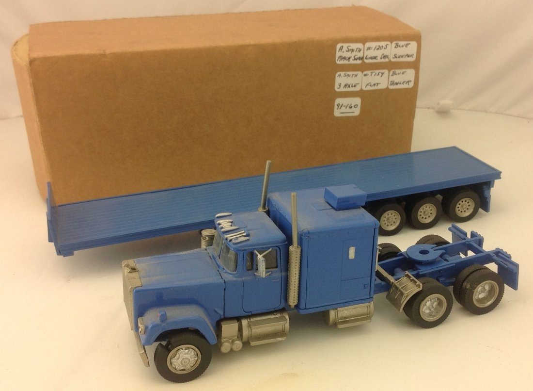 A Smith ASAM Mack Tractor Trailer Diecast Model 1:48 - 2