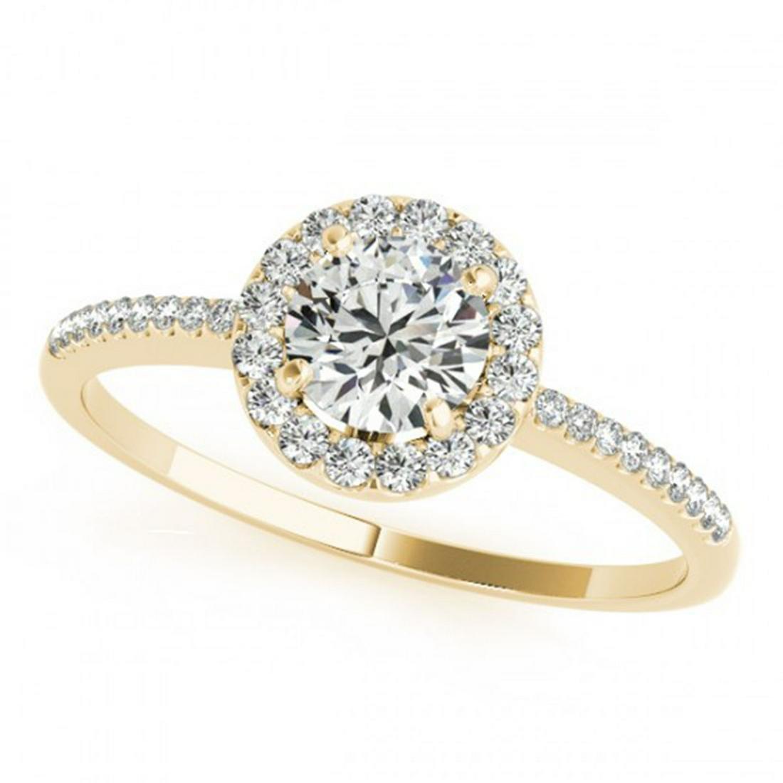 0.75 ctw VS/SI Diamond Halo Ring 14K Yellow Gold