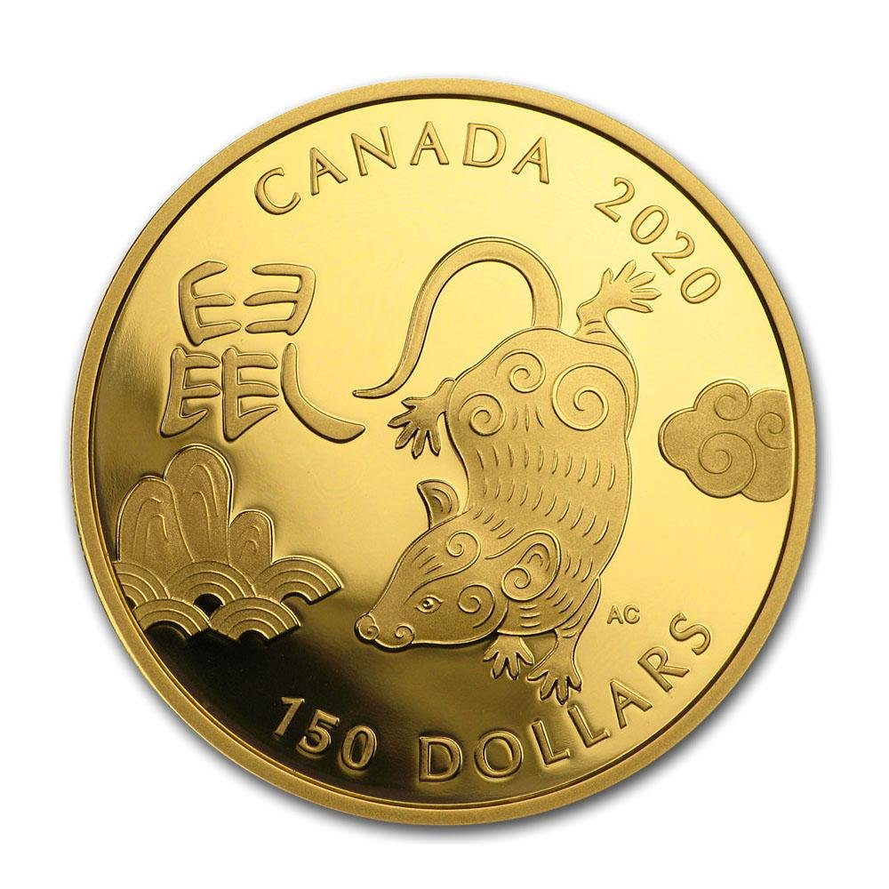 2020 Canada Gold $150 Year of the Rat Proof