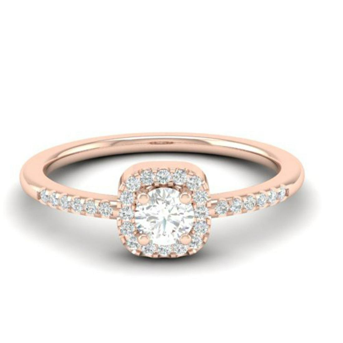 0.45 ctw VS/SI Diamond Ring Halo 14K Rose Gold