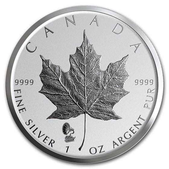 2019 Canada 1 oz Silver Maple Leaf Edison Phonograph