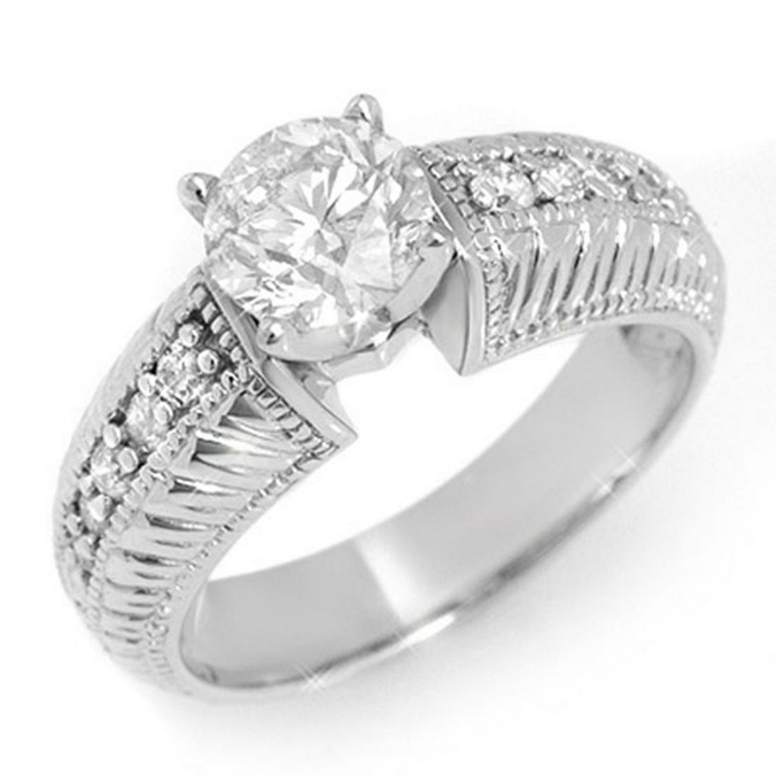 1.26 ctw VS/SI Diamond Ring 14K White Gold