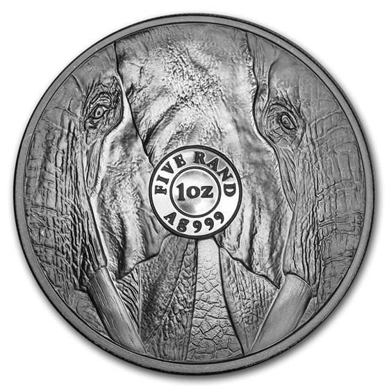 2019 South Africa 1 oz Silver Big Five Elephant BU