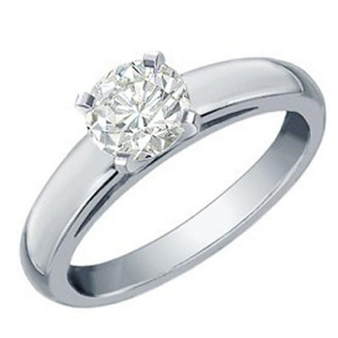 0.60 ctw VS/SI Diamond Solitaire Ring 18K White Gold