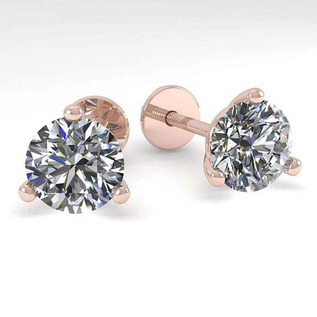 2.0 ctw VS/SI Diamond Stud Martini Earrings 14K Rose