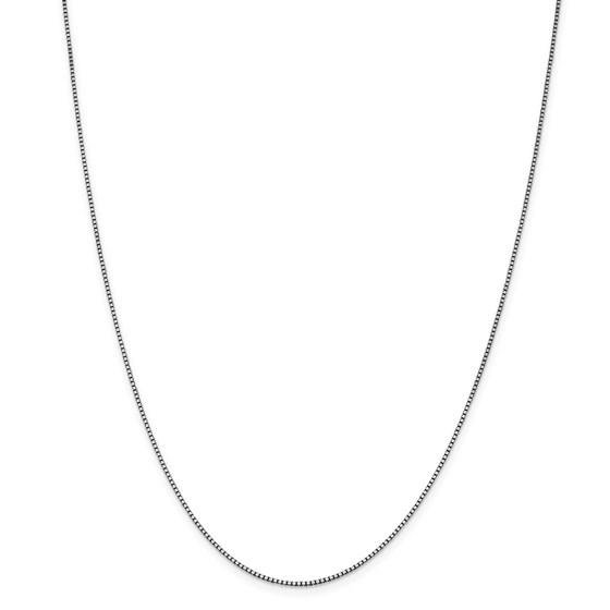 14k White Gold 1.05 mm Box Chain - 28 in.