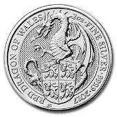 2017 Great Britain 2 oz Silver Queen's Beasts The
