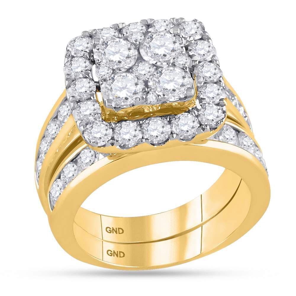 14kt Yellow Gold Womens Round Diamond Bridal Wedding