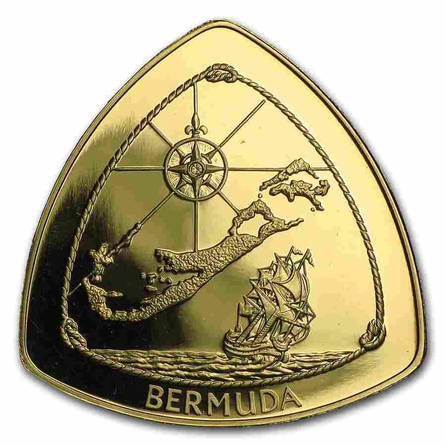 Bermuda 1 oz Proof Gold $60 Triangle (Random Dates)