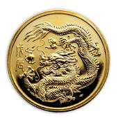 1988 Singapore 1 oz Proof Gold 100 Singold Dragon