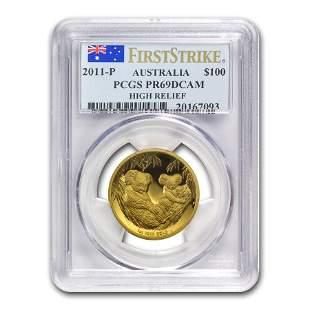 2011-P Australia 1 oz Gold Koala PR-69 PCGS (FS, High