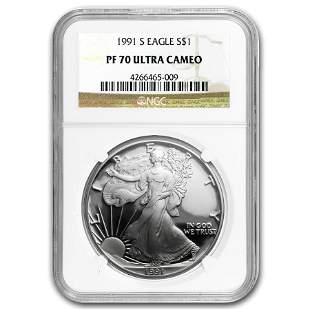 1991-S Proof Silver American Eagle PF-70 NGC (Registry