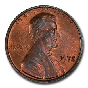 1972 Lincoln Cent MS-65 PCGS (Red/Brown, Doubled Die