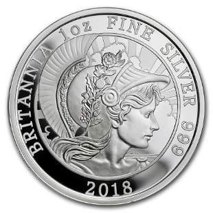 2018 Great Britain 1 oz Proof Silver Britannia