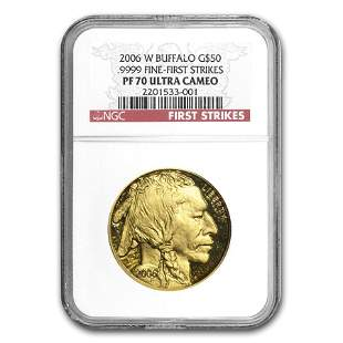 2006-W 1 oz Proof Gold Buffalo PF-70 NGC (FS)