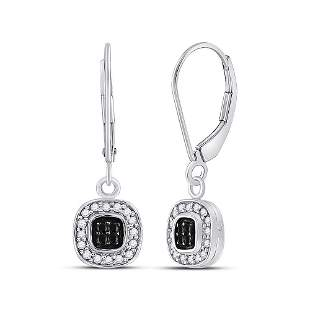 14kt White Gold Womens Round Black Color Enhanced