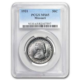 1921 Missouri Half Dollar Centennial Commem MS-65 PCGS